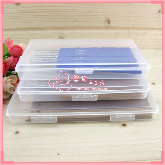 Knitted tools plastic box hook needle tool storage box transparent storage box accessories storage box 3 size for choose
