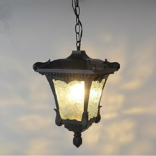 American vintage waterproof pendant lamps Retro outdoor decration balcony pendants lights Fixture E27 bulb ...