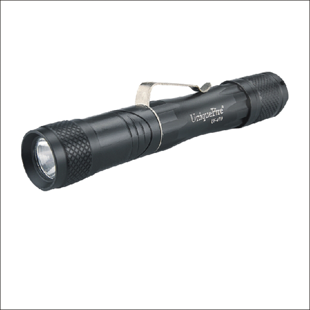 Free shipping EDC Flashlight V19 Mini LED Torche 3 Mode Torch For Searching font b Camping