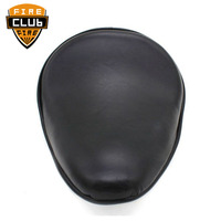 for Harley Dyna Sportster 883 1200 48 72 Custom Bobber Chopper Motorcycle Black Leather Solo Seat