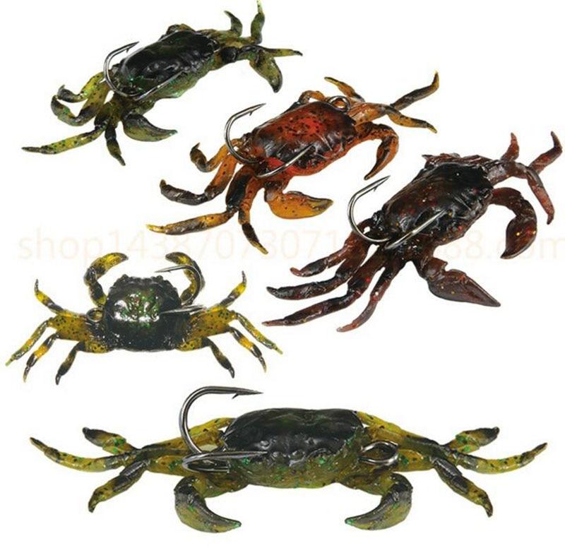 1Pcs Soft Crab Hook Fish Bait 30g 10cm Wobbler Lure Swimbait Sharp Hooks Fishing Tackle