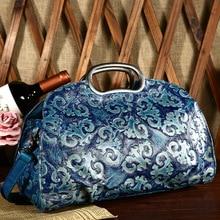 Free shipping National trend women's classical genuine leather handbag women's vintage fashion portable bag messenger bag