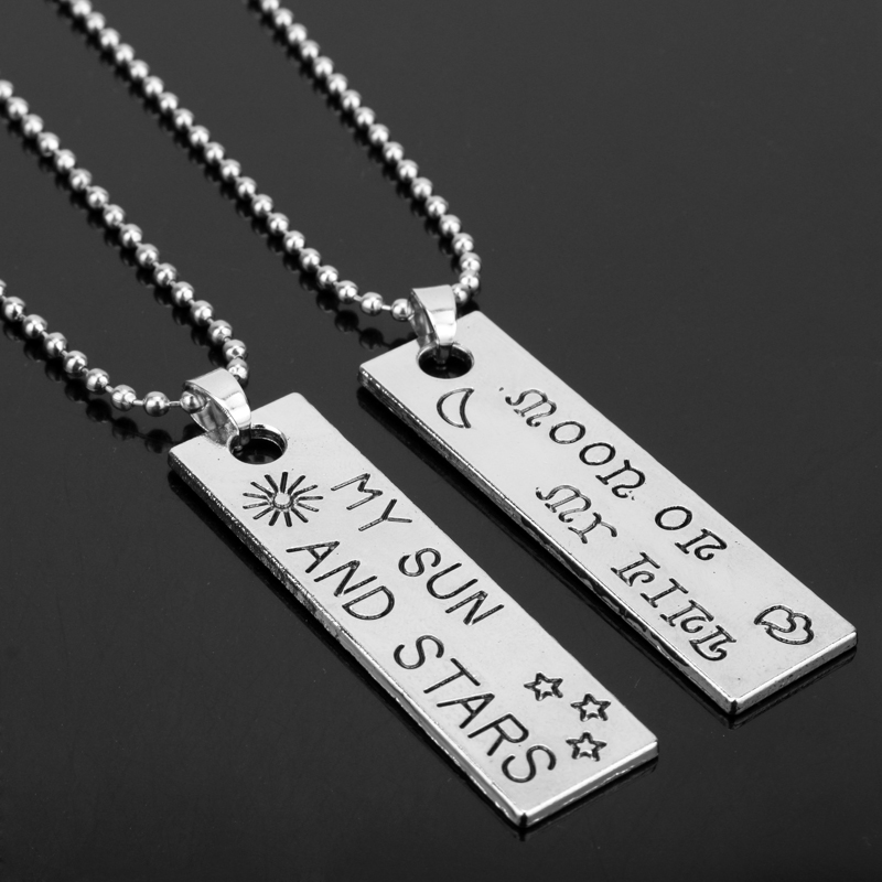 MQCHUN Game Of Thrones Lovers Necklaces Moon Of My Life My Sun and Stars Pendant Necklace for Women Men Lover Gidt-30
