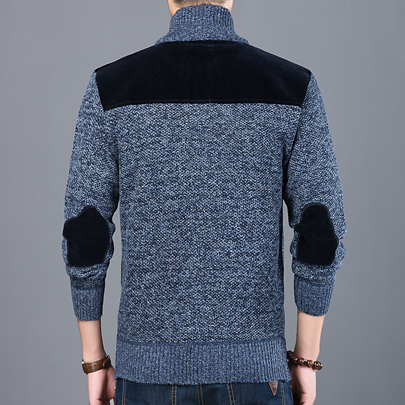 Image 5 - 2020 Thick New Fashion Brand Sweater For Mens Cardigan Slim Fit 