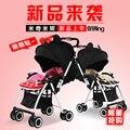 Cochecito de bebé súper paraguas plegable portable del coche carros puede sentarse puede mentir de dos vías cochecito portable