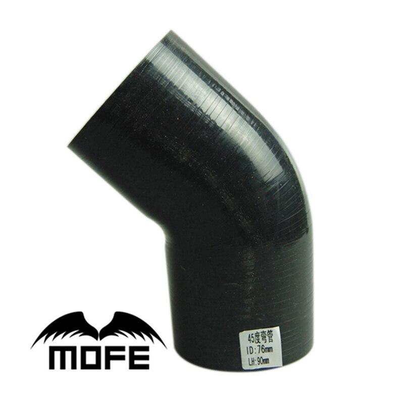 MOFE 76mm 45 Degree Silicone Intercooler Turbo Intake Pipe Coupler Hose