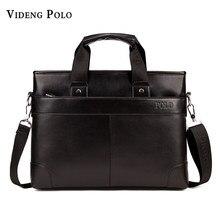 defd4a7b3195 2017 Hot sale man bag business briefcase leather handbag Men s Messenger bag  computer laptop leisure travel