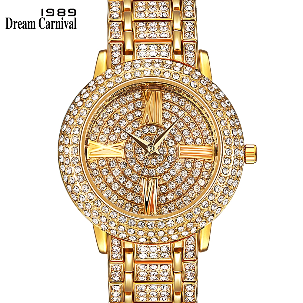 Dreamcarnival 1989 Hot Selling Full Crystals Watches for Women Luxury Design Round Alloy Case Stones Dial Party Must Have 15612Dreamcarnival 1989 Hot Selling Full Crystals Watches for Women Luxury Design Round Alloy Case Stones Dial Party Must Have 15612