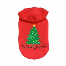 Festival Christmas Puppy Dog Christmas Hoodies Cotton Pet Sweater Autumn and Winter Cloth