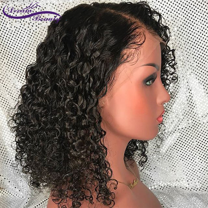 Curly Wig Brazilian Lace Front Human Hair Wigs With Baby Hair Lace Front Wig Remy Hair Pre Plucked Bleached Knots Dream Beauty