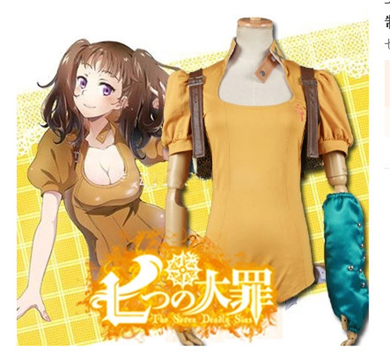 The Seven Deadly Sins Diane Cosplay Costume Serpent's Sin of Envy All Size Without Backpack