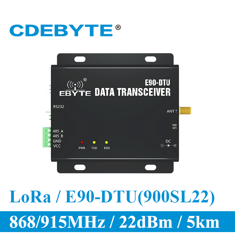 E90 DTU 900SL22 LoRa 22dBm Modem RS232 RS485 868MHz 915MHz RSSI Relay IoT vhf Wireless Transceiver RF Transmitter and Receiver-in Communications Parts from Cellphones & Telecommunications
