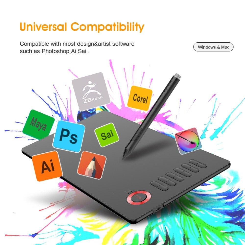Tablette de dessin VEIKK A15 10x6 pouces 0.9 cm tablette graphique Ultra-mince 5080LPI tablette numérique 8192 niveaux avec stylo sans batterie - 5
