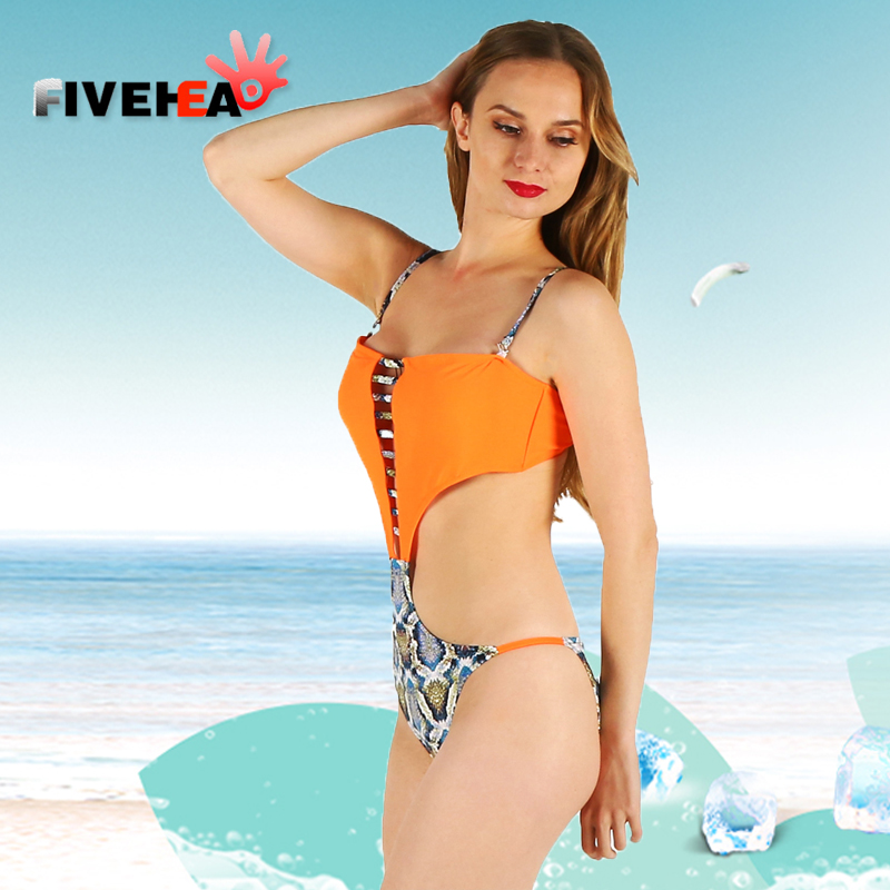one-piece women swimwear sexy sling halter printed orange solid color large size bathing swimsuit push up female patchwork one piece swimsuit cheap sexy bathing suits may beach girls plus size swimwear 2017 new korean shiny lace halter badpakken