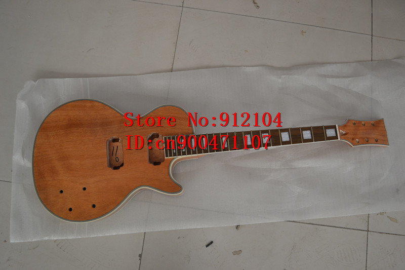 new Big John unfinished electric guitar with mahogany body without hardware custom guitar no paint F 1196