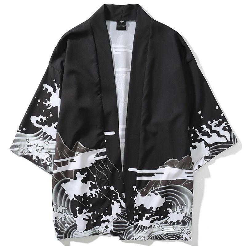 Samurai Crane Japanese Style Kimono Haori Men Women Cardigan Chinese Dragon Traditional Japanese Clothing Asian Clothes 8