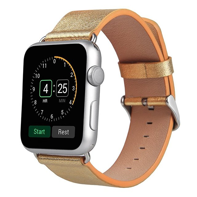 V-MORO Luxury Genuine Leather Watch Strap For Apple Watch Band 42mm  Replacement Wrist Bracelet for Apple Watch Band