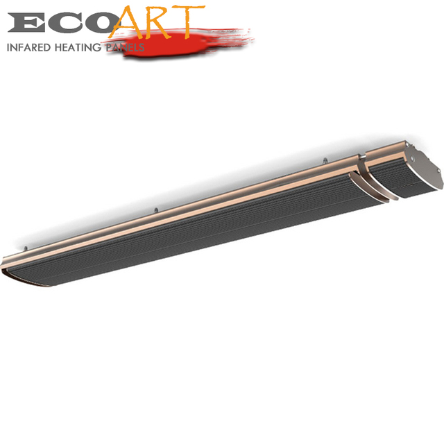 2400W 4 Power Settings Outdoor Barbeque Patio Heater Remote Control Electric  Infrared Strip Heater For Cafes