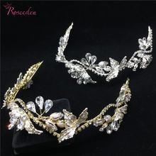 Романтические Золотые и Серебряные украшения Стразы ручной работы