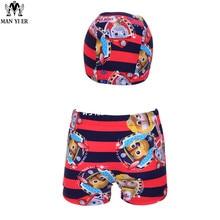 2pcs Paw Patrol Swimsuit Trunks with Cap