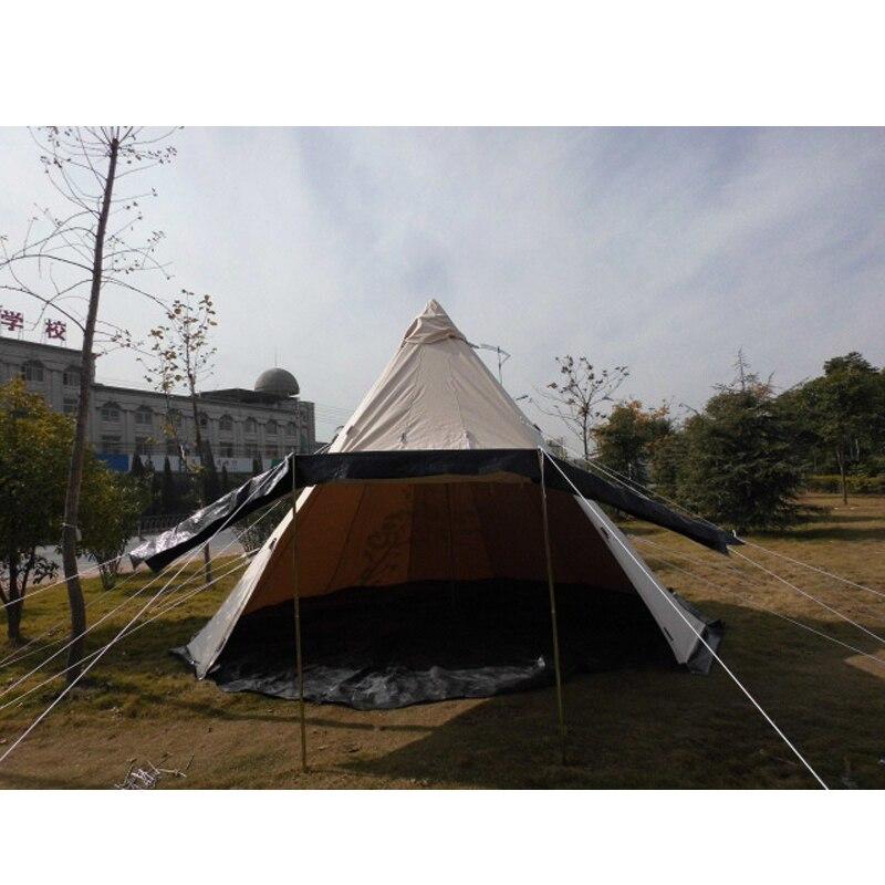 Outdoor Survival <font><b>Tent</b></font> 500*500*300cm Cotton Canvas Bell <font><b>Tent</b></font> Waterproof Yurt Tipi Camping <font><b>Tent</b></font>/keep warm, ultra-light, picnic