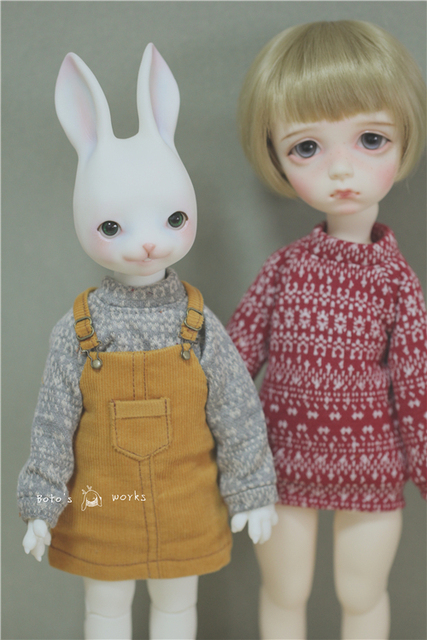 Cute Corduroy Strap Dress 5colors for BJD 1/8 1/6 1/4 MSD Luts Doll Clothes CW82-1