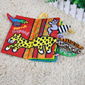Baby Touch Animal Tail 3D Learning Education Unfolding Activity Cloth Book Toys