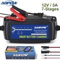 Автоматическое зарядное устройство ADPOW  7 этапов  12 В  5 А  для свинцово-кислотных AGM гелиевых аккумуляторов  десульфатор для зарядки аккумуля...