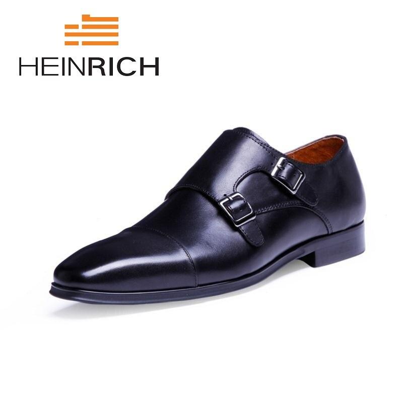Heinrich Luxo Homens Formal De Black Negócios Derby Lace Up Preto Da Dos Escritório Marca Sapatos 2018 Masculino brown Couro Sociais xXYnXfR