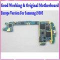 100% buen funcionamiento s3 i9305 placa base, para samsung galaxy s3 i9305 motherboard con patatas fritas, original y abrió el envío libre