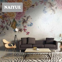 Flamingo wallpaper wallstickers woven clothing shop Nordic individuality ten TV background wall mural waterproof