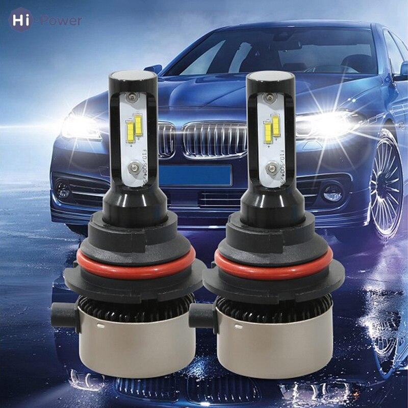 Phare de voiture universel haute puissance 3800LM 45 W H1 H3 H7 H11 9005 H4 9004 9007 COB LED ampoule de phare Hi/Lo 6500 K phare automatique