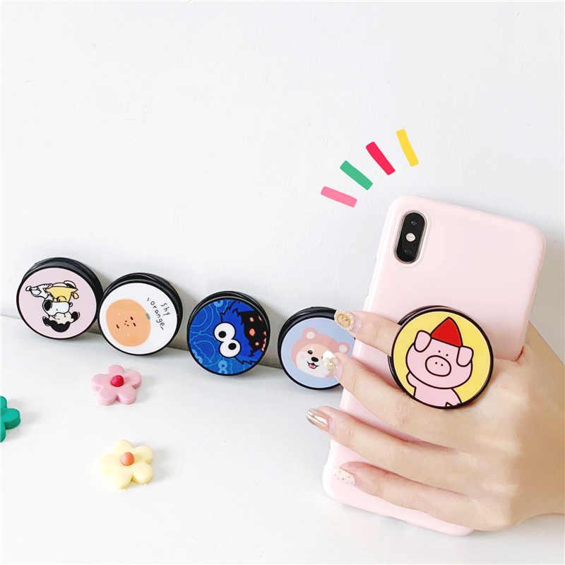 קריקטורה חמוד מתקפל סוגר טבעת אבזם אנימה דוב אוניברסלי stand bracket עבור iphone סמסונג Huawei טלפון מקרה kickstand קאפה