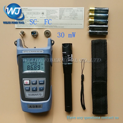 2 In 1 FTTH Fiber Optic Tool Kit King-60S Optical Power Meter -70 to +10dBm and 30mW Visual Fault Locator Fiber optic test pen
