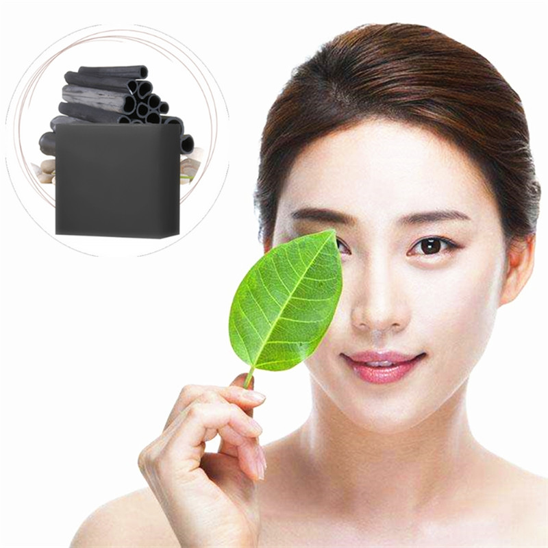 Fresh Cool Oil Control Face Moisturizing Handmade Soap Whitening Essence Shrink Pore Bathing Soap Bamboo Charcoal Dry Skin Care image