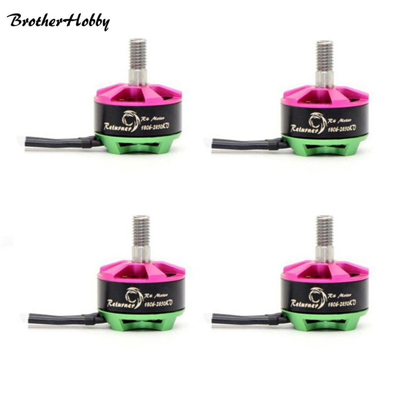 4X BrotherHobby Returner R4 1806 2850KV FPV Racing Brushless Motor 19g for RC Racer Drone Quadcopter Spare Parts Accessories 4set lot universal rc quadcopter part kit 1045 propeller 1pair hp 30a brushless esc a2212 1000kv outrunner brushless motor