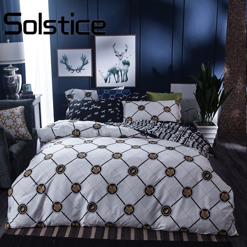 Solstice Home Brief Animals Lines Plaids Printed 4Pcs Twin Full Great Brand Series Soft High Density Cotton Duvet Cover Sets 30Solstice Home Brief Animals Lines Plaids Printed 4Pcs Twin Full Great Brand Series Soft High Density Cotton Duvet Cover Sets 30