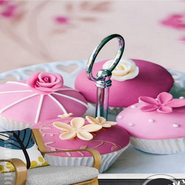 Foto Tapete Romantische Blume Rose Creme Schokolade Kuchen Brot