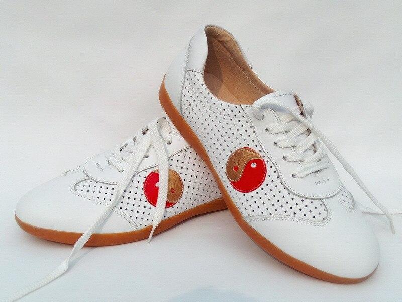 Китайский Кунг-Фу Тай-Чи Кроссовки Мужская Спортивная Обувь Дышащая Практика Обувь Из Натуральной Кожи с Верхом Коровы Мышц Подошвы