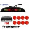 with LED Display monitor 8 Sensors car Kit Reversing Radar System Parking Radar Buzzer System 4 front 4 rear Parking Sensors