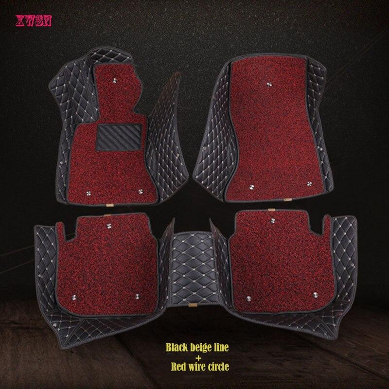 Custom logo car floor mats for tesla model 3 tesla model s