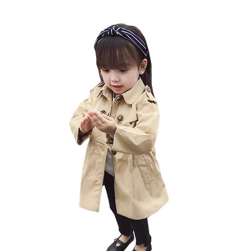 2018 Vintage Girl Spring Jacket Bow Tie Trench Outwear Coat Atumn Shine Princess clothing Top for girl bobo choses bobo choses пододеяльник