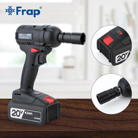 Frap Electric Wrench 320N.m Torque Impact Wrench Brushless Cordless Power Rechargeable Extra Battery DIY Household