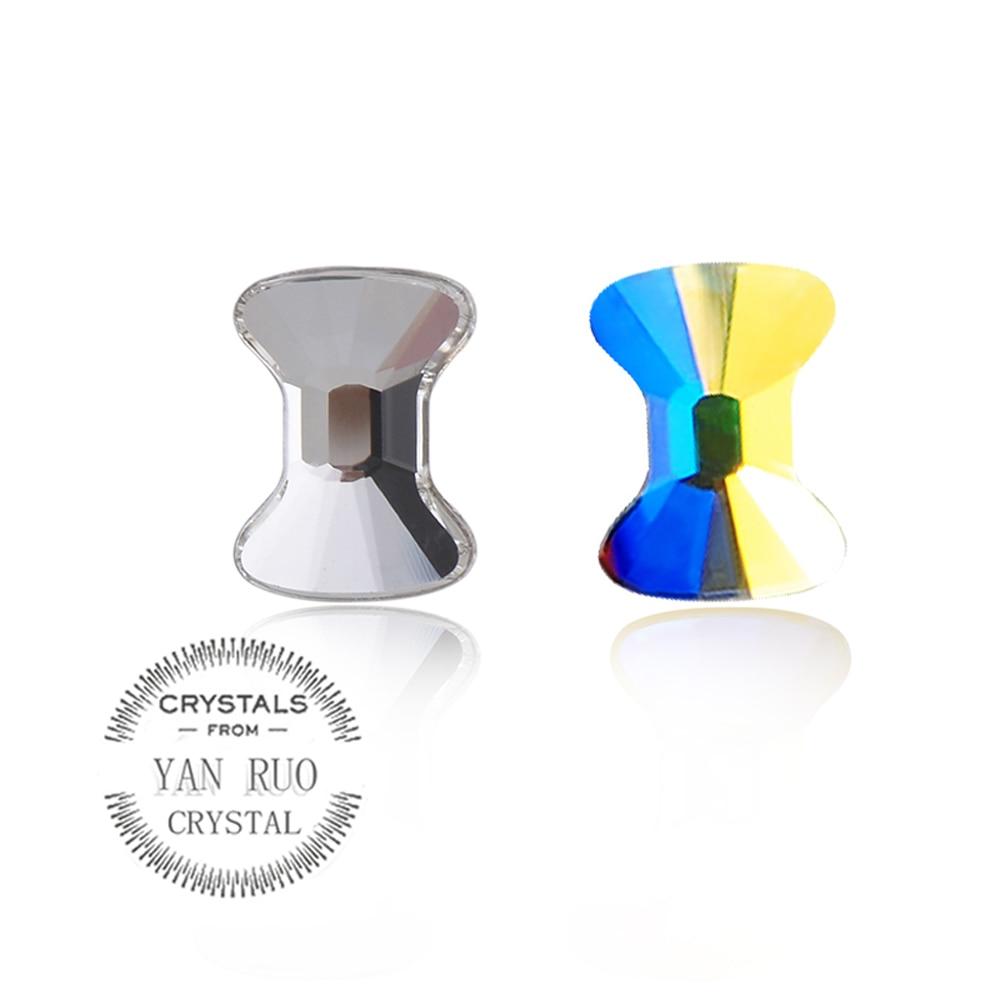 YANRUO 72pcs 5X6mm Crystal AB 3D Bow Tie Dırnaq sənəti Rhinestone - Dırnaq sənəti - Fotoqrafiya 3