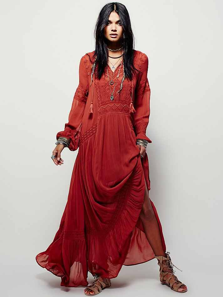Plus size UK 2019 Summer Autumn Ladies Long sleeve Linen dress Ethnic Embroidery Hippie Boho People Maxi Robe Long dress Vestido