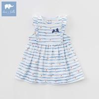 DBM7344 Dave Bella Summer Infant Baby Girl S Princess Striped Dress Children Birthday Party Wedding Dress