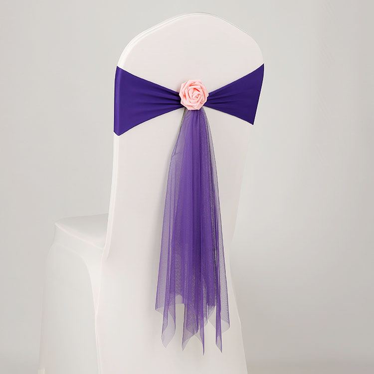 Phenomenal Flower Stretch Mess Fabric Chair Sash Chair Cover Band Organza Chair Cover Sashes Bows For Wedding Party Decorationaei 035 Slipcover For Dining Chairs Lamtechconsult Wood Chair Design Ideas Lamtechconsultcom