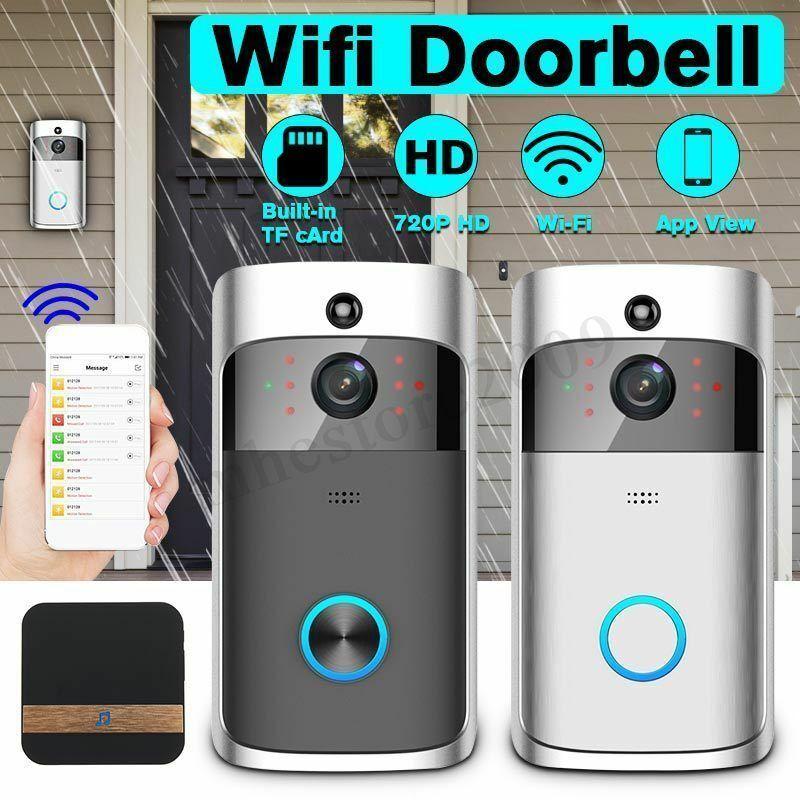 Higestone WiFi Smart Video Doorbell IP Camera Ring Door Bell Two Way Audio Wireless APP Control IOS Android Battery Powered