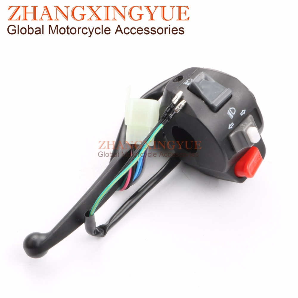 Chinese Scooter Left Side Drum Brake Switch Housing for GY6 125cc150cc 152QMI 157QMJ BWS125 Moped Scooters ATV left light switch control brake lever for gy6 50 150 chinese scooter moped