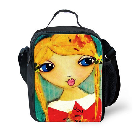 Cute Girls Lunch Bags for Girls, Fashion Kids Lunchbox Bag for Girls,Lovely Thermal lunch Bag for Teenager Girls Picnic Box,